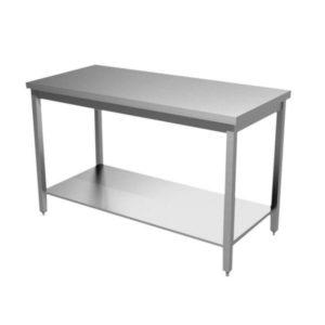 Tables inox gamme CHR (centrale avec étagère)