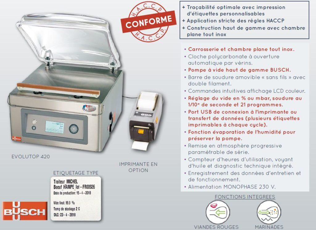 machine-sous-vide-evolutop-imprimante-description